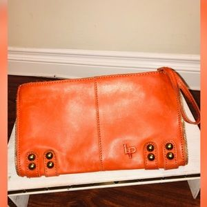 LP Linea Pelle Leather Clutch Handbag